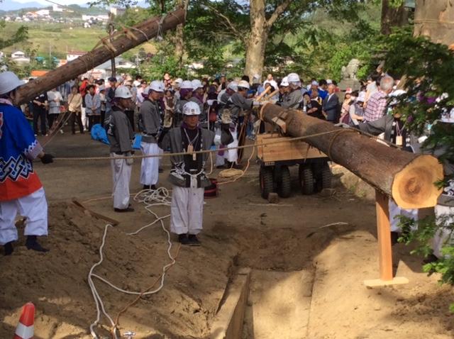 御柱祭in牟礼神社