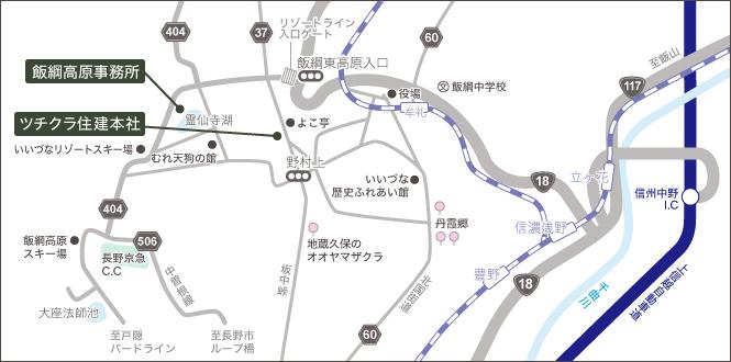 ツチクラまでの地図