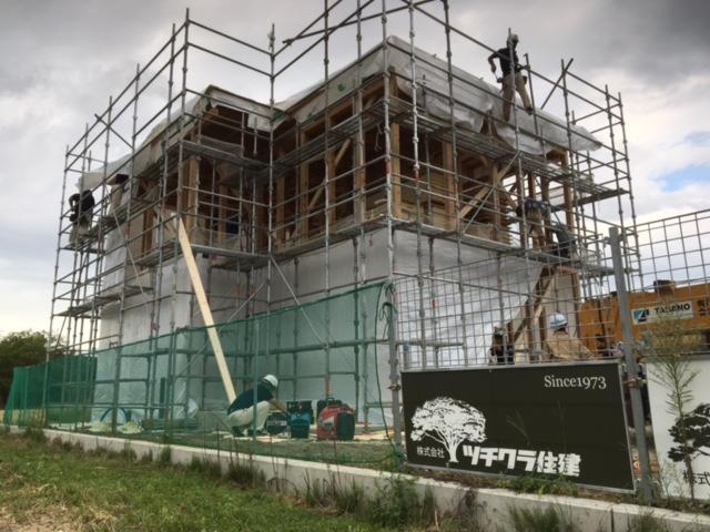 中野市S様邸 R+house 新築工事 建て方