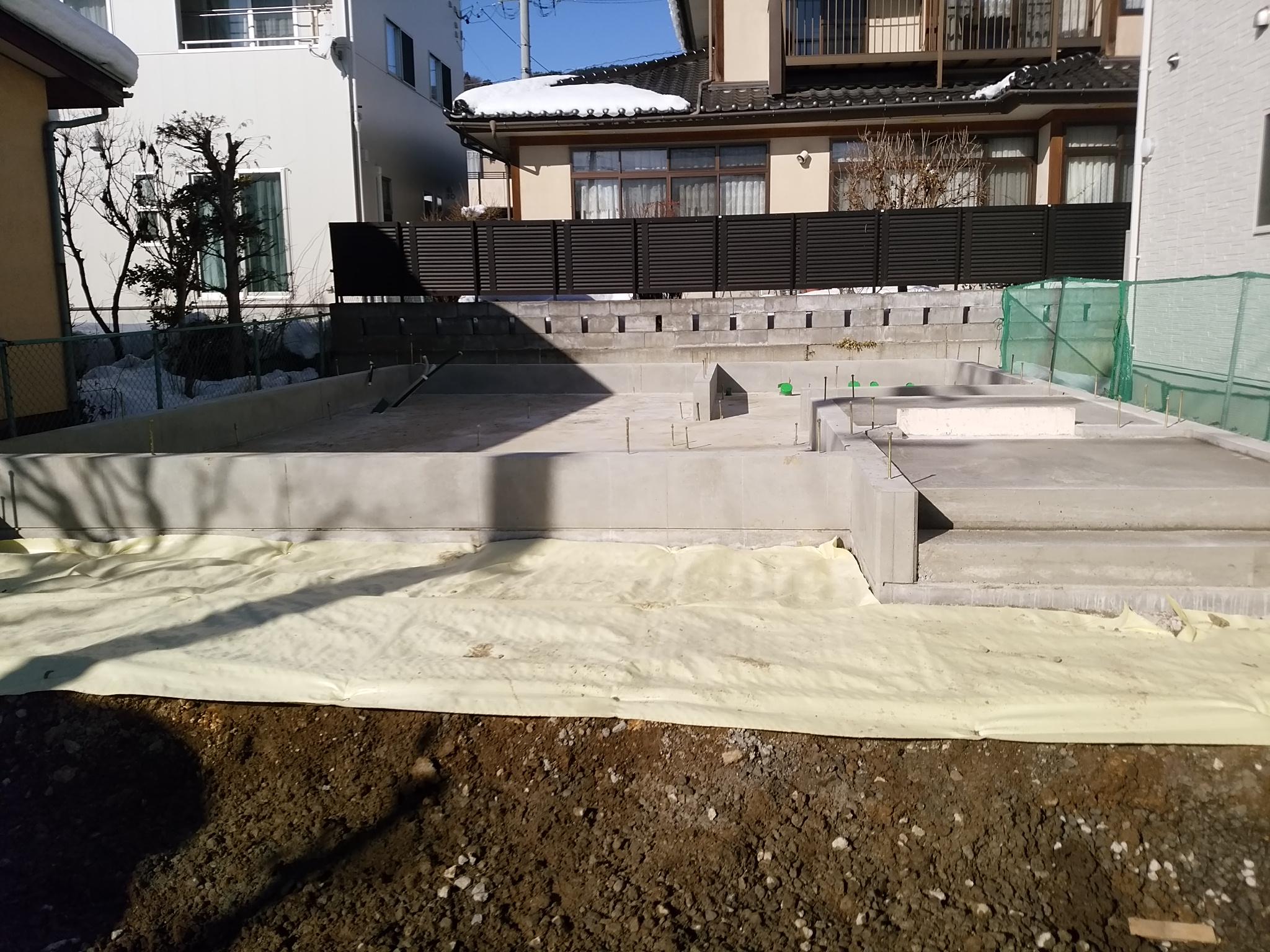 長野市M様邸基礎工事完了