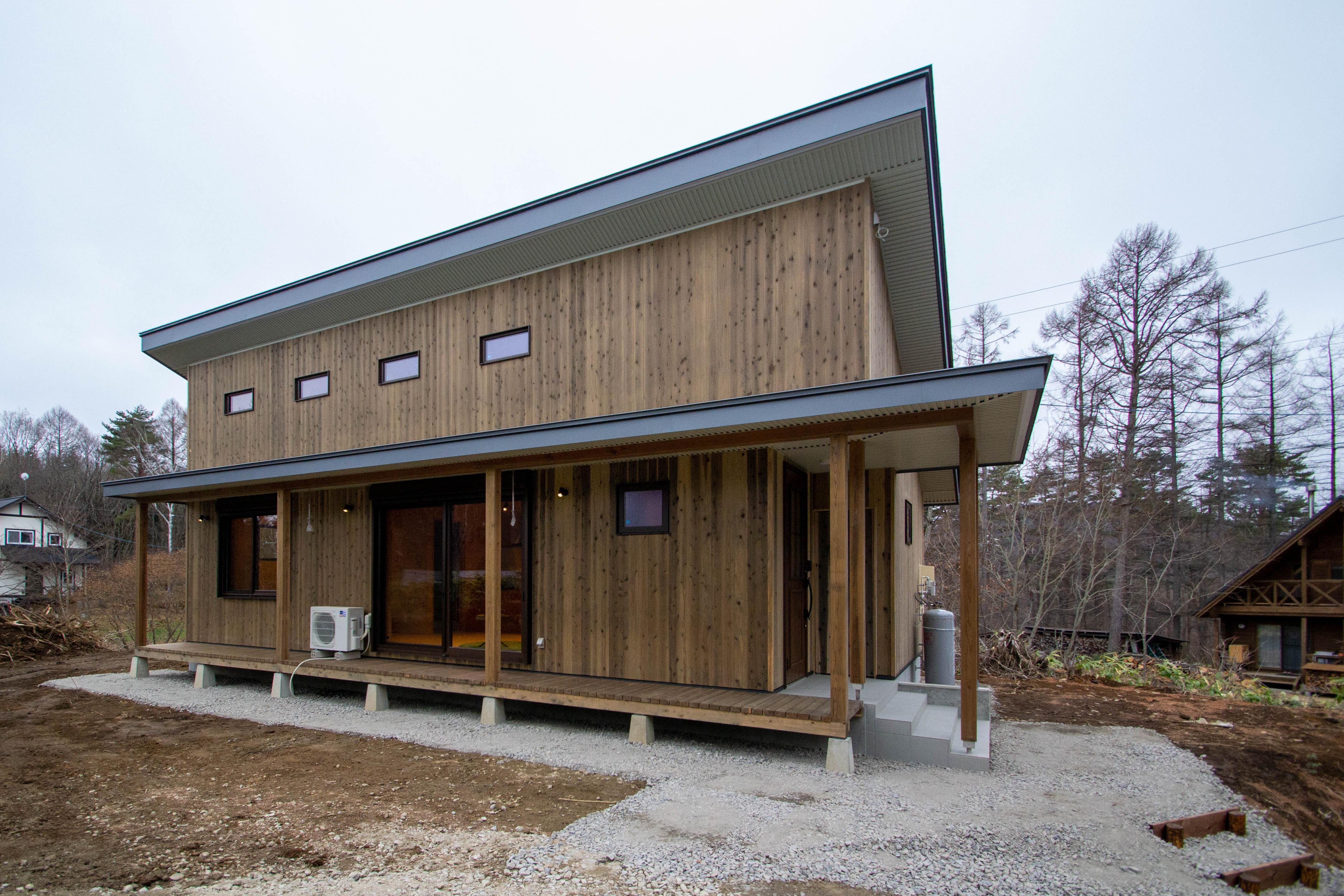 別荘の新築!全面木仕上げの癒しの空間 S様邸